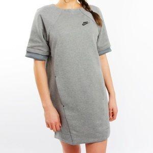 Nike Tech Carbon Heather grey fleece dress - EUC!